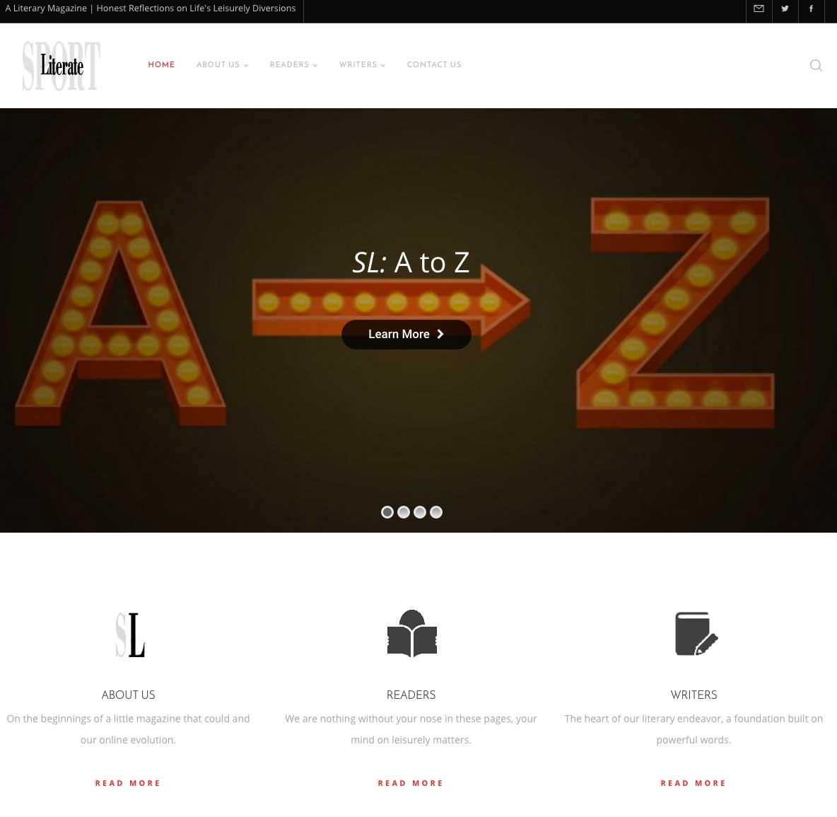 Sport Literate Website